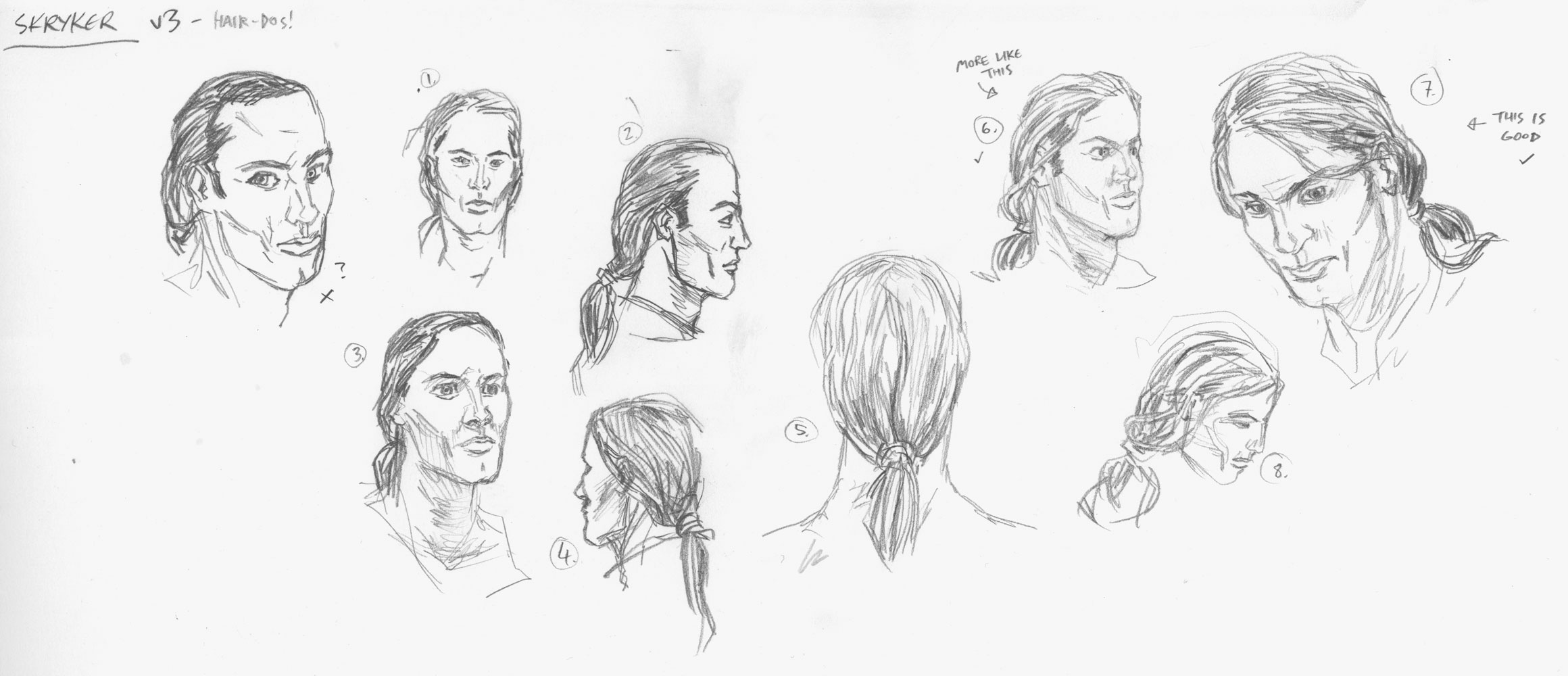 Chronicles of Deva: Felix Skryker character roughs