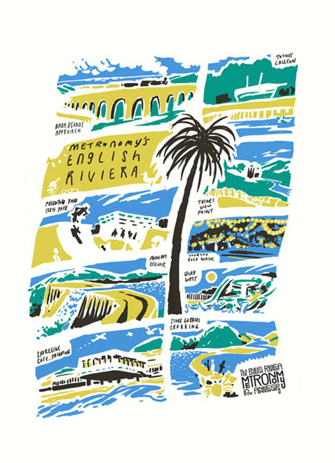 Metronomy English Riviera Tea Towel